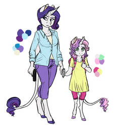 Infected!AU: Rarity and Sweetie Belle