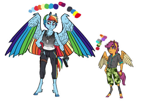 Infected!AU: Rainbow Dash and Scootaloo