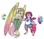 Infected!AU: Fluttershy and Pinkie Pie
