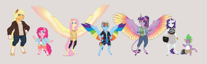 Mane 6 Lineup (Road Trip! Project)