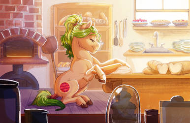 Commission: Early Morning Baking