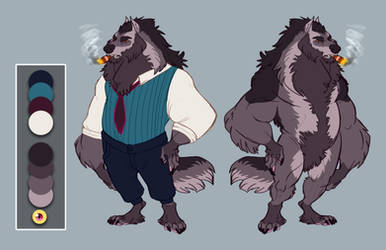 Commission: Wolf character design