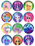 Best Pony! buttons