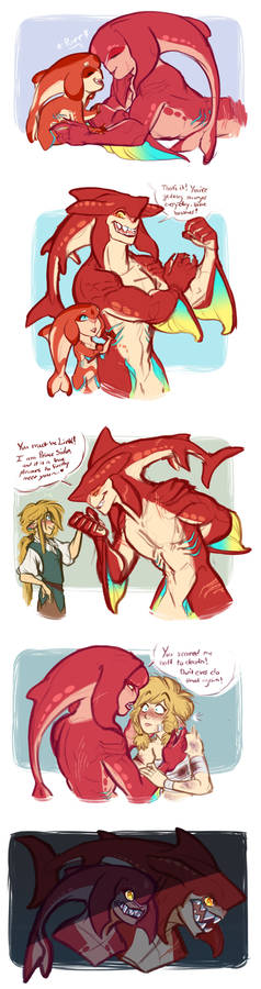 LoZ: Mipha and Sidon are the bees knees owo
