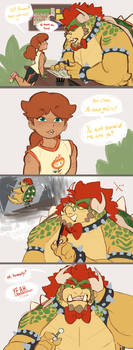 Daisy is too powerful and Bowser knows it