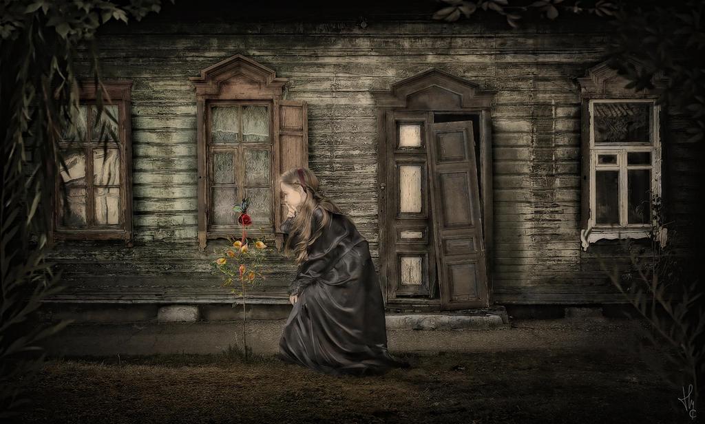 La fillette et le papillon by ThyC-Graphics
