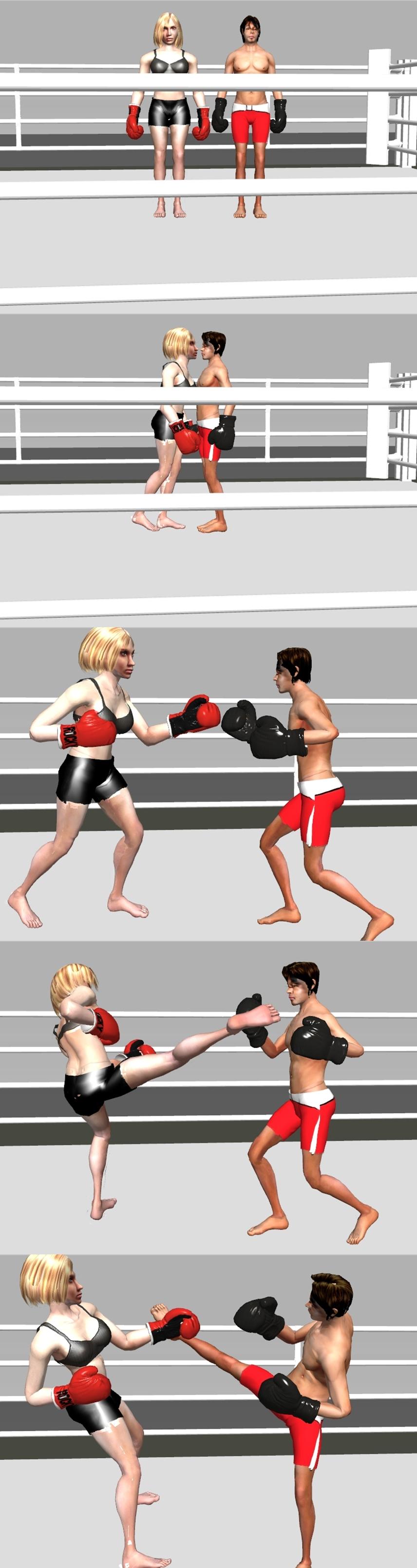 mixed boxing match
