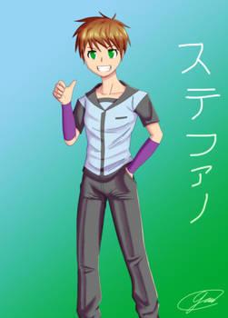 Stefano with uniform
