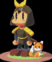Hero and kitsune by Pokekoks