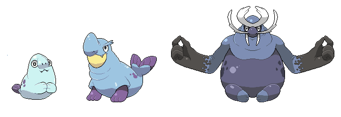 Water Starter Evolution Line by Pokekoks