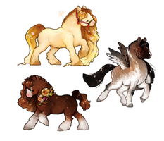 Cheeb horsies (comissions) by miloudee