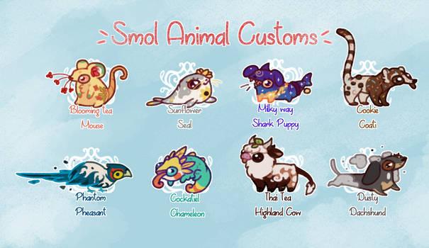 [OPEN] Smol custom animals