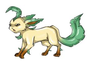 Angry Leafeon by Lady-Leaf