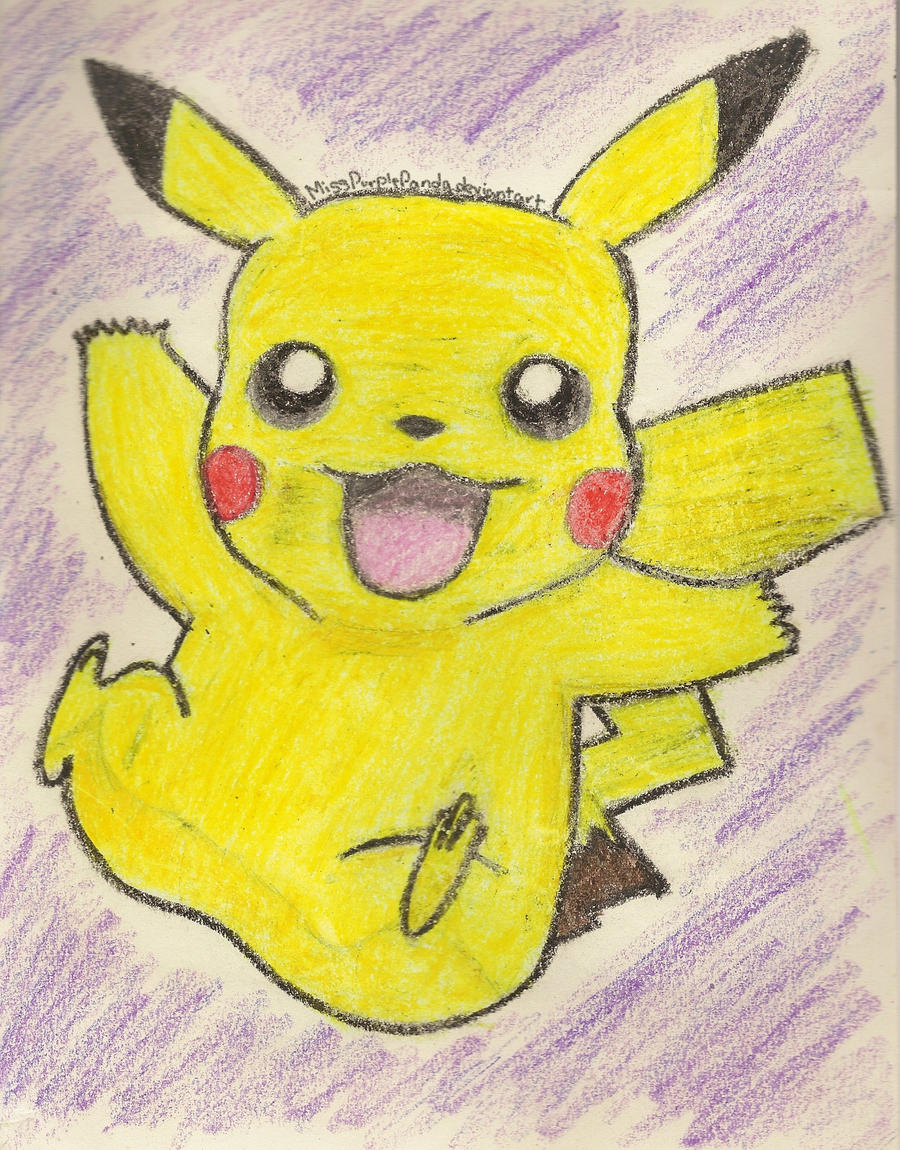 Pikachu Crayon Drawing Fail