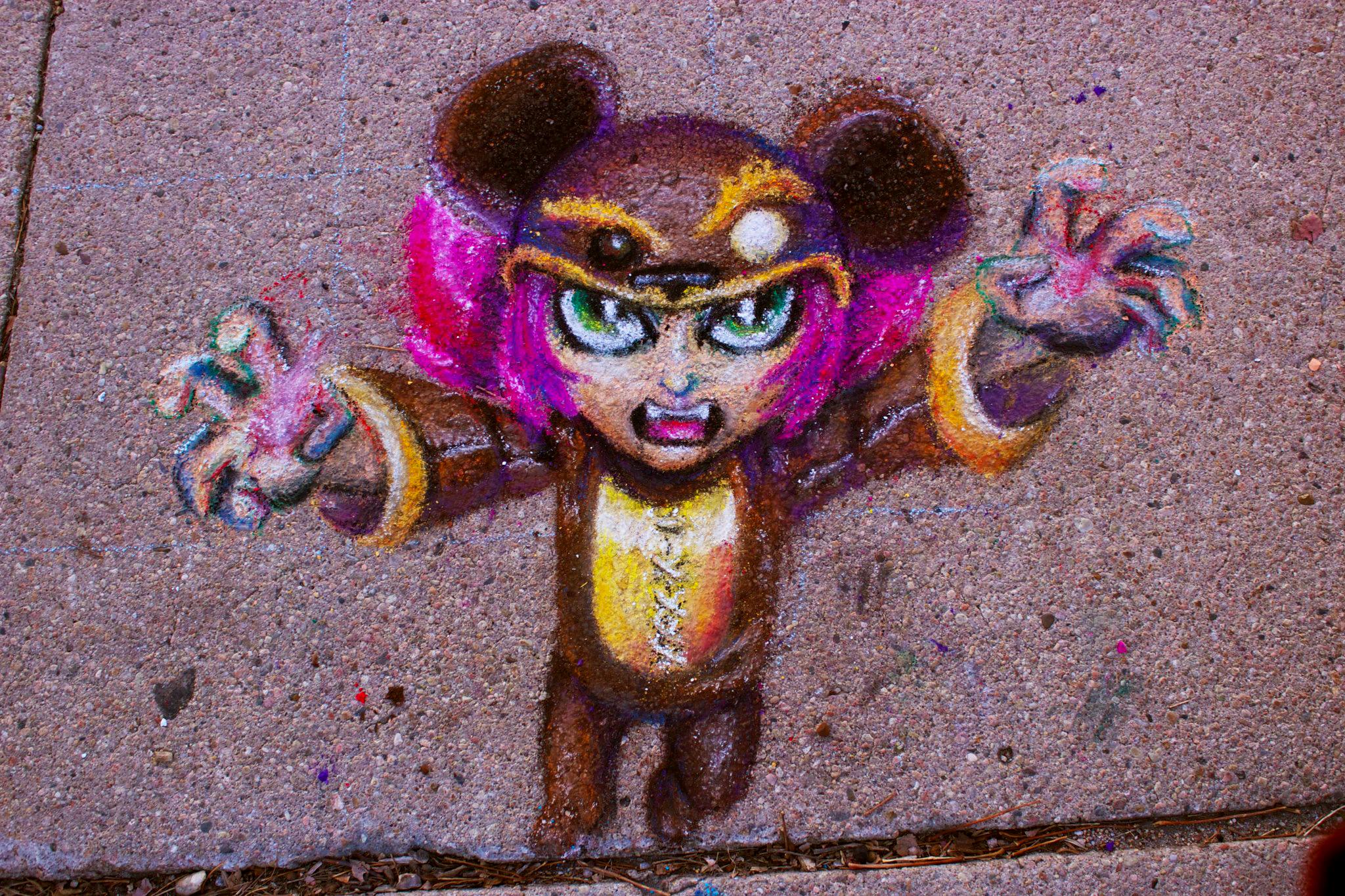 Reverse Annie Sidewalk Chalk by SpyroShurtagul