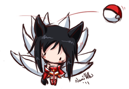 LoL -  Ahri, The Nine-Tailed Fox by NamiDragon