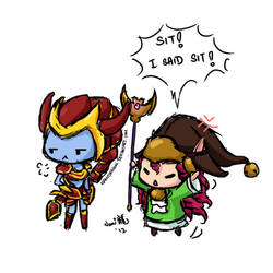 LoL - Shyvana too hard to train... by NamiDragon