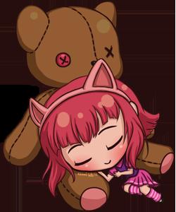 LoL Chibi - Sleeping Annie by NamiDragon