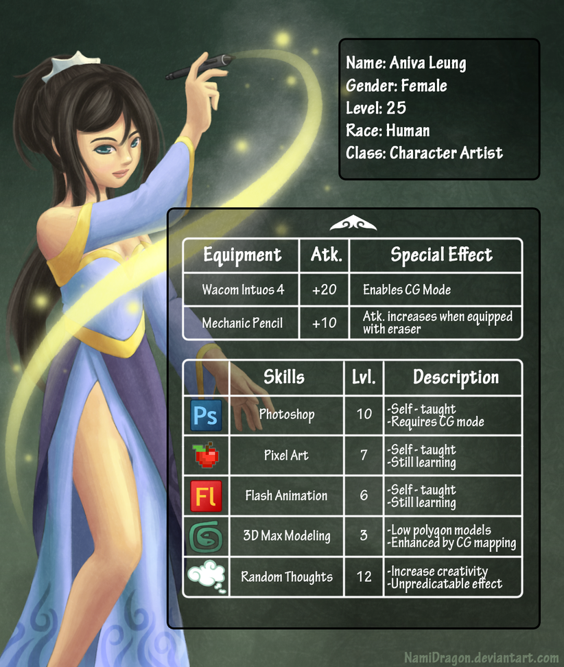 Game Artist Resume V2 Page 2 By Namidragon On Deviantart