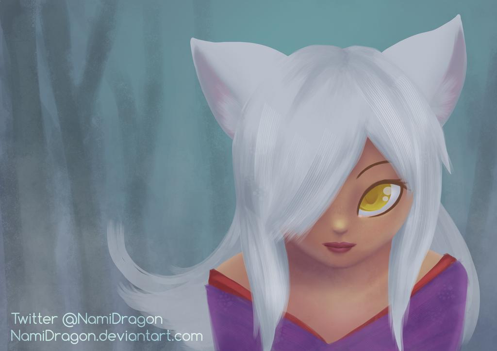 Ice Wolf by NamiDragon