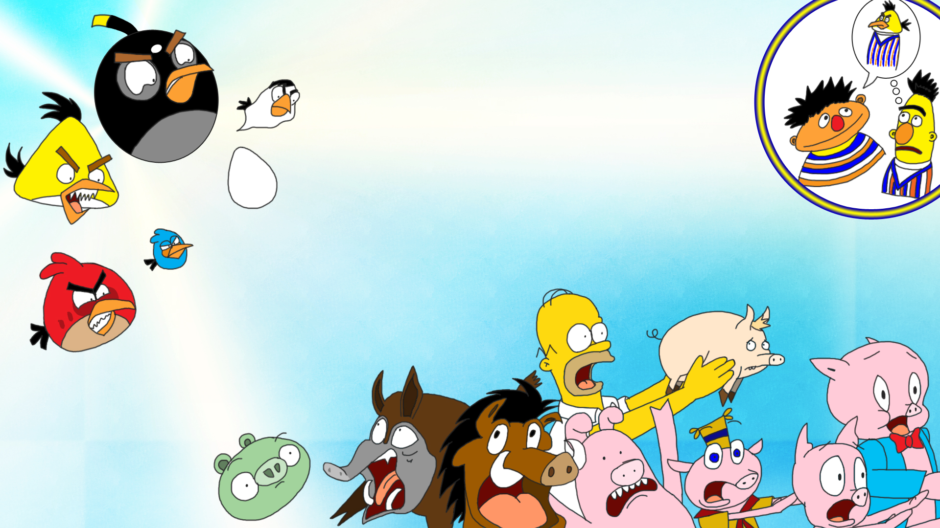 Angry Birds Vs The Pigs By Finalverdict On DeviantArt