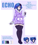 UTAU Echo Official Reference Sheet by Piannen