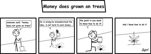 money does grown on trees by sarca-stick