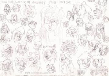 Draw like Warner-Schwartz Sketches Part 1