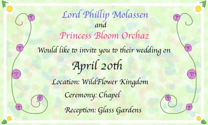 SugarFlowers Wedding Invite by blackblade94
