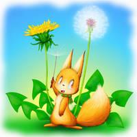 Dandelion and fox by enorapi