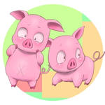 pink pig from Accel World by enorapi