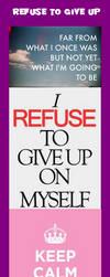 Motivational Bookmark: Refuse to Give Up by johnkremer