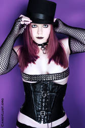 Black Leather Corset by iFearMyself