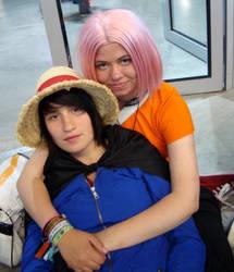 Luffy and Sakura by Deadkub