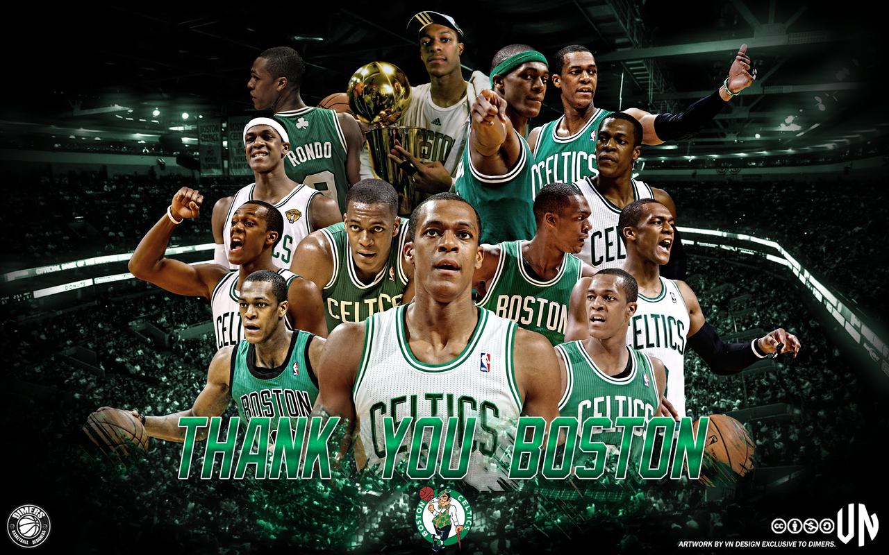 Rajon Rondo Thank You Boston By Vndesign On DeviantArt