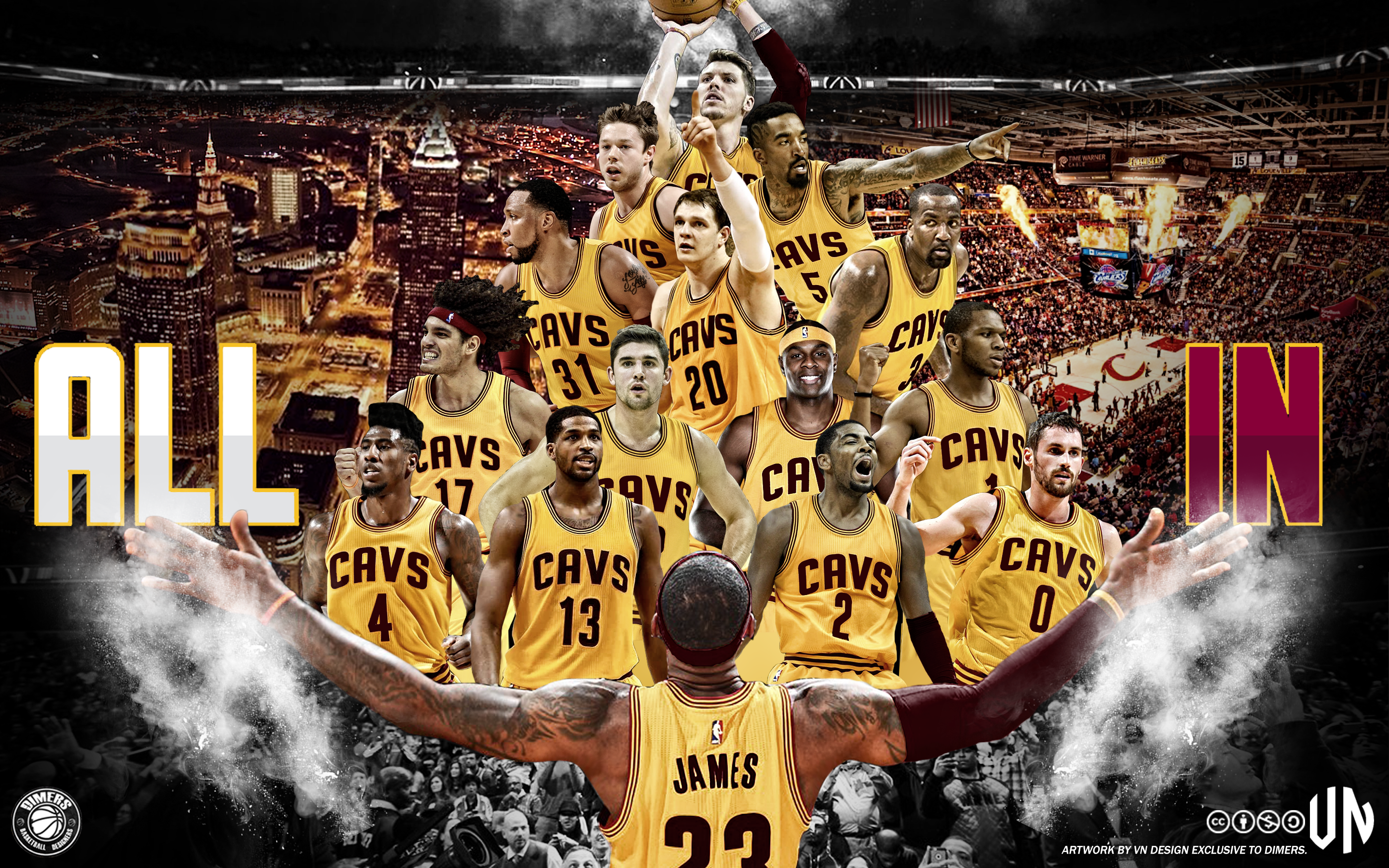 Cleveland Cavaliers ALL IN Wallpaper By Vndesign