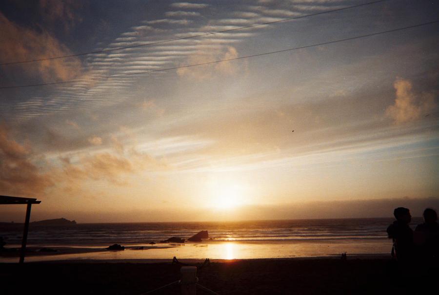 Sunset On Beach by Moka898