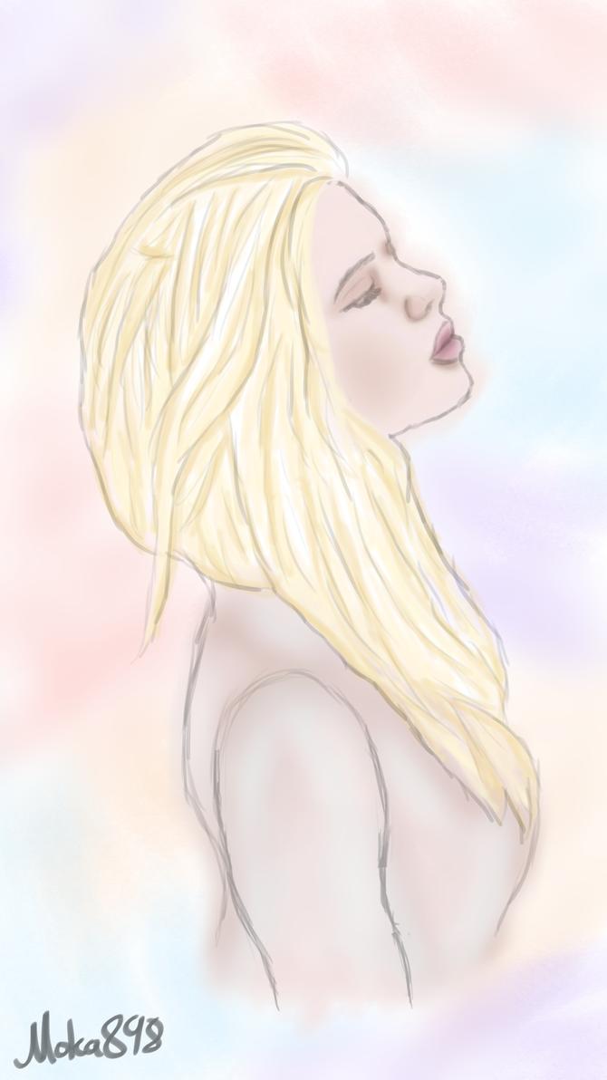 Realish Girl Drawing by Moka898