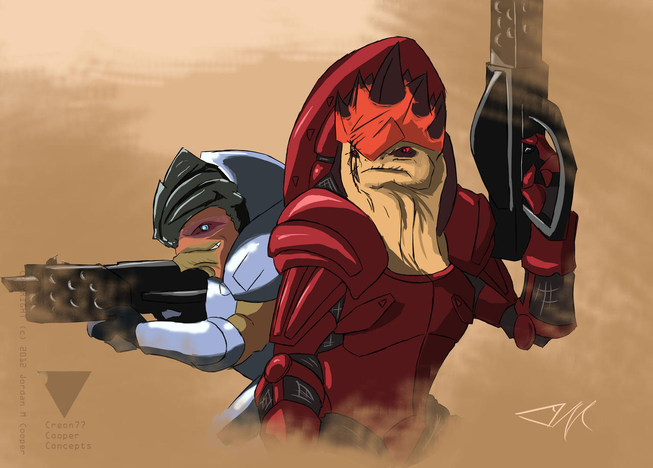 Clan Urdnot's Grunt and Wrex by creon77