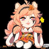 little orange cinnamon roll by Sakokii