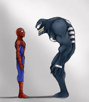 spiderman and venom by annyd