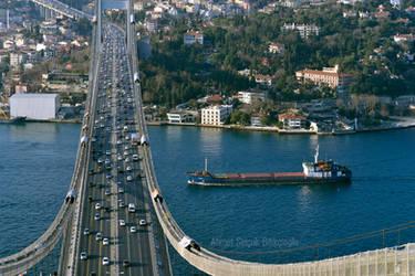 on the Bosphorus Bridge by AhmetSelcuk