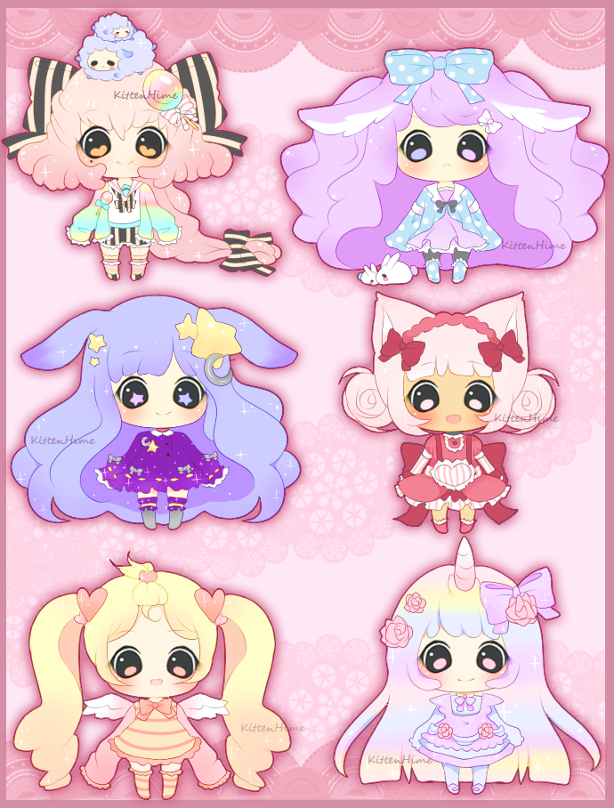 Adoptable- Sparkly Girls [Closed] by myaoh