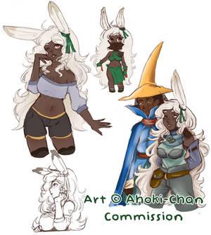 Sarisa and Macen (Commission from Ahoki-Chan)
