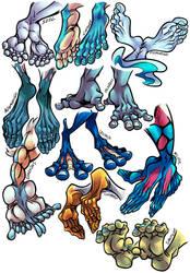 Water Type PKH Feet Study 1 (Com by Oyajifever)