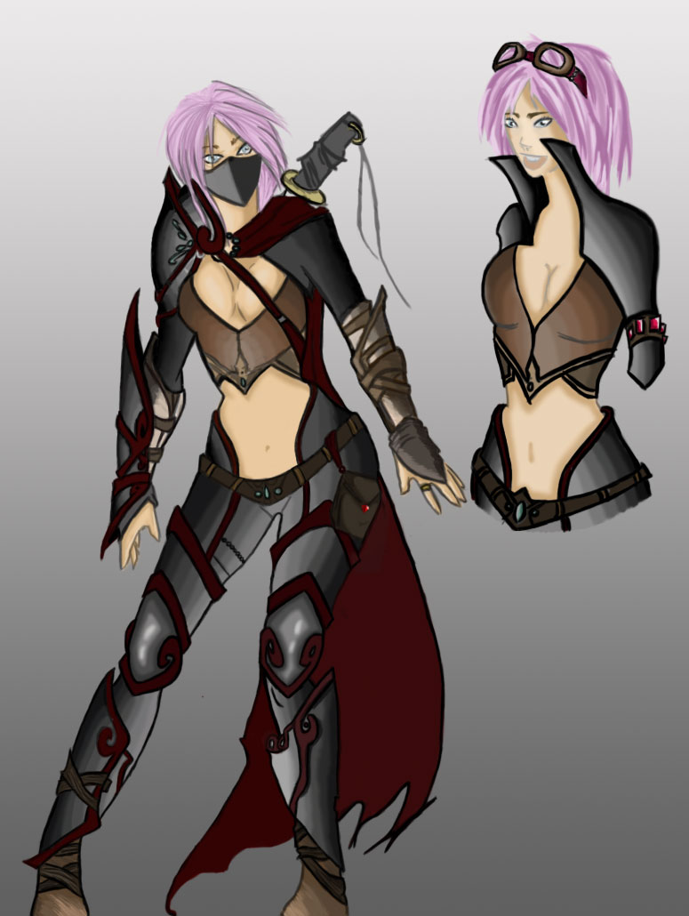 Pink haired assassin by smallruubzz