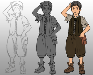 Victorian Boy step by step