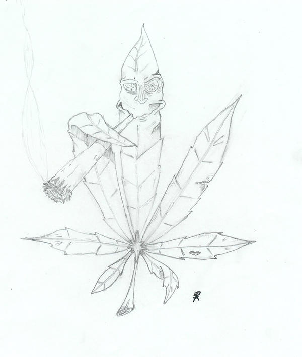 Skull Smoking Weed Drawing Weed Smoking Weed...600