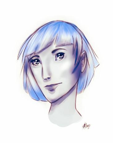 A strange girl-10min sketch by Ninna968