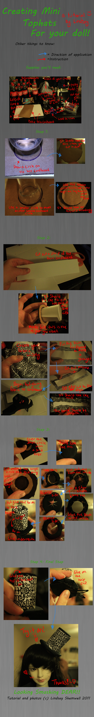 How to make Top Hats for Dolls by lindseyshemwell